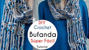 Bufanda Súper Fácil para Tejer a Crochet / Tutorial para Principiantes