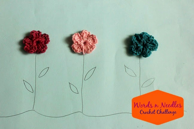 crochet flowers kids craft