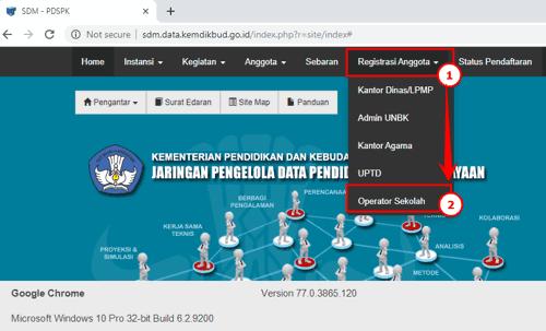 Cara Mendaftar Akun Operator Sekolah / Madrasah di Web sdm.data.kemdikbud.go.id 1