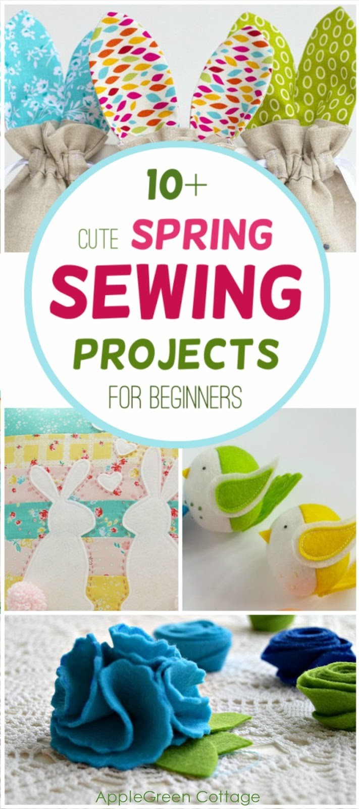 10 Fun Spring Sewing Projects For Beginners  AppleGreen