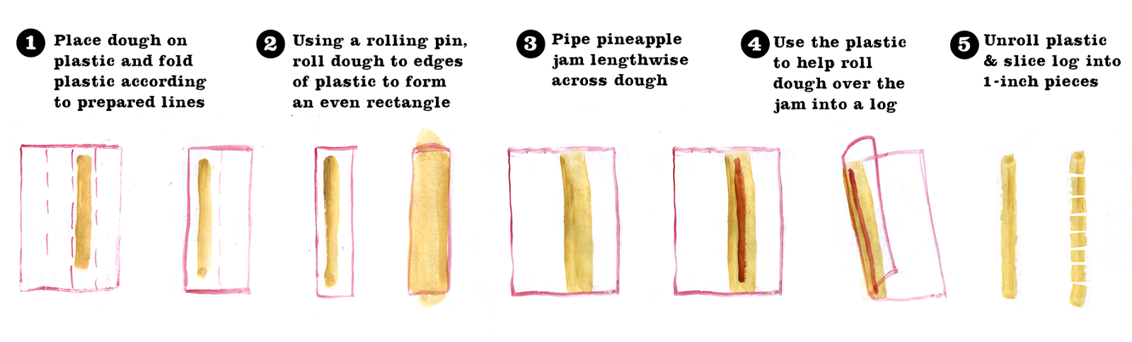 Pineapple Tarts, Lauren Monaco Illustration