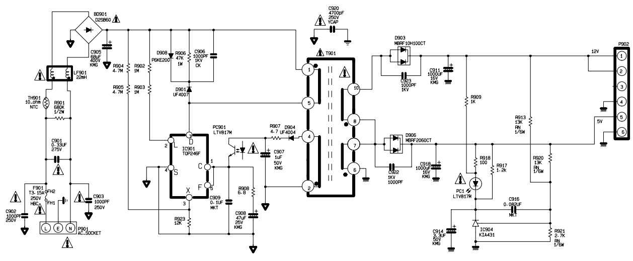 flatron l1510m lg lcd monitor circuit diagram schematic electro help rh electronicshelponline blogspot com dell lcd monitor schematic diagram lcd monitor circuit diagram
