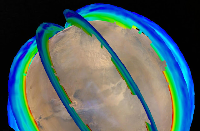 Mars orbiters reveal seasonal dust storm pattern