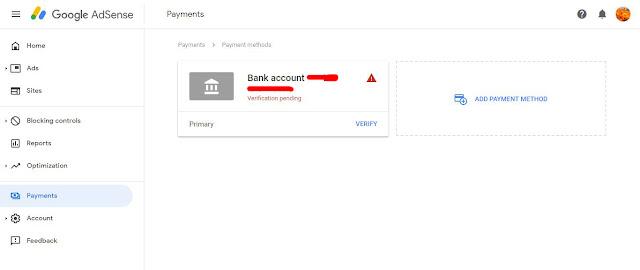 Kelas Informatika - Rekening Bank Google Adsense