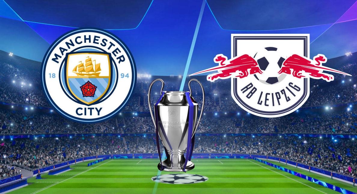 مباراة مانشستر سيتي ضد لايبزيج دوري أبطال أوروبا