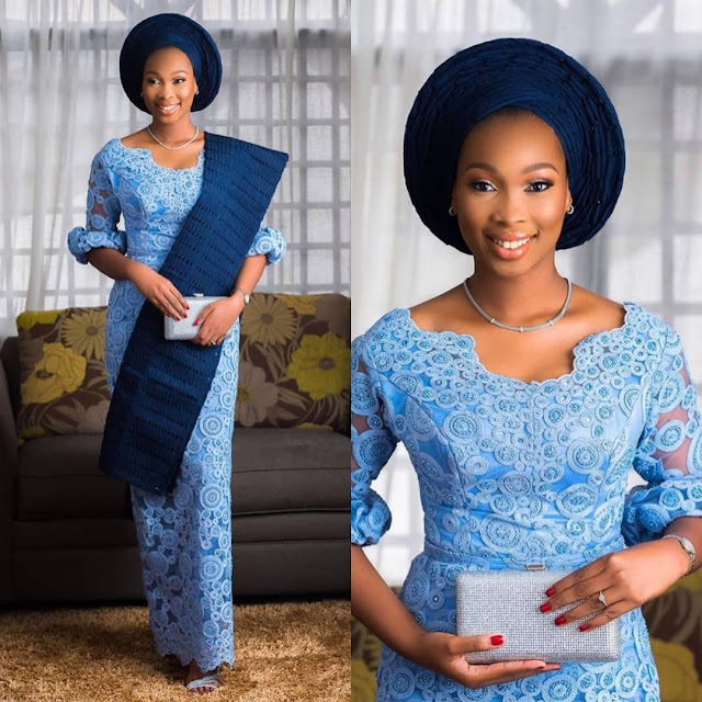 A Collection of Latest Elegant Asoebi Long Gown Styles 2019
