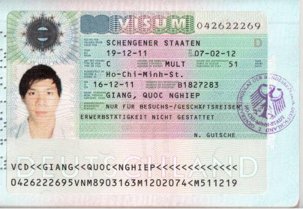 Xin Visa Đi Đức