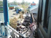 Kebakaran Menara Informasi Pelabuhan Pamatata  Ditaksir Mencapai Milyaran Rupiah