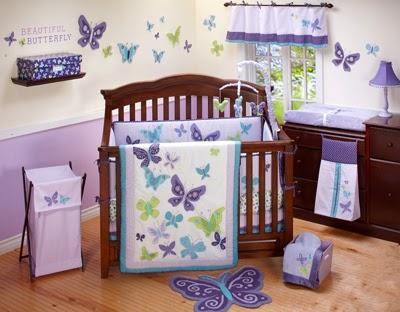 dormitorio bebé mariposas