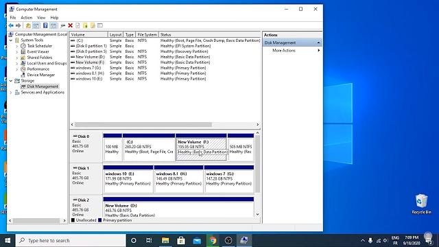 إدارة أقراص Windows
