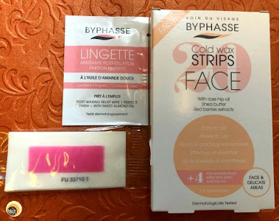 Byphasse Cold Wax Strips for Face details ON Natural Beauty And Makeup blog