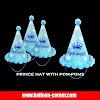 Topi Ulang Tahun Pom Pom PRINCE (Ukuran Kecil)