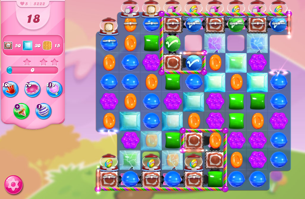 Candy Crush Saga level 5222