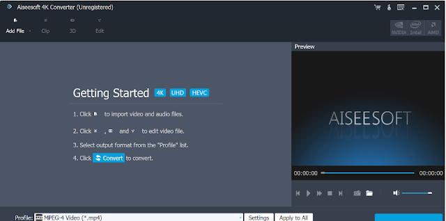 تحميل برنامج تحويل فيديو فور كي Aiseesoft 4K Converter