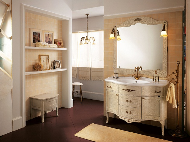 palladio is one of the collections of baqno piu very beautiful luxurious and classic bathroom furniture set cabinets countertop with sink shelving - Bathroom Furniture Collections