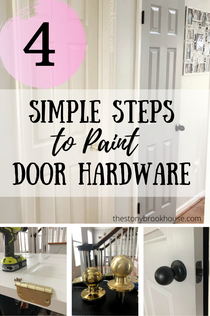 4 Simple Steps To Paint Door Hardware
