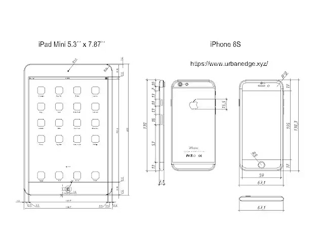iPad and iPhone 6s plan and elevation cad blocks download