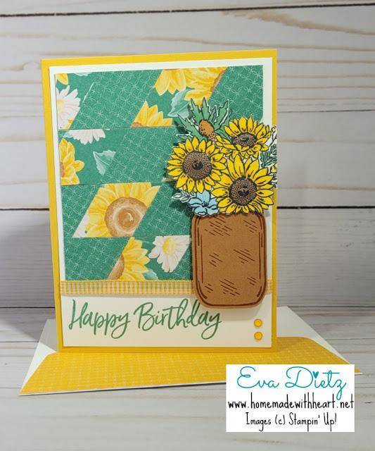 Sunflower Mason Jar Birthday Card