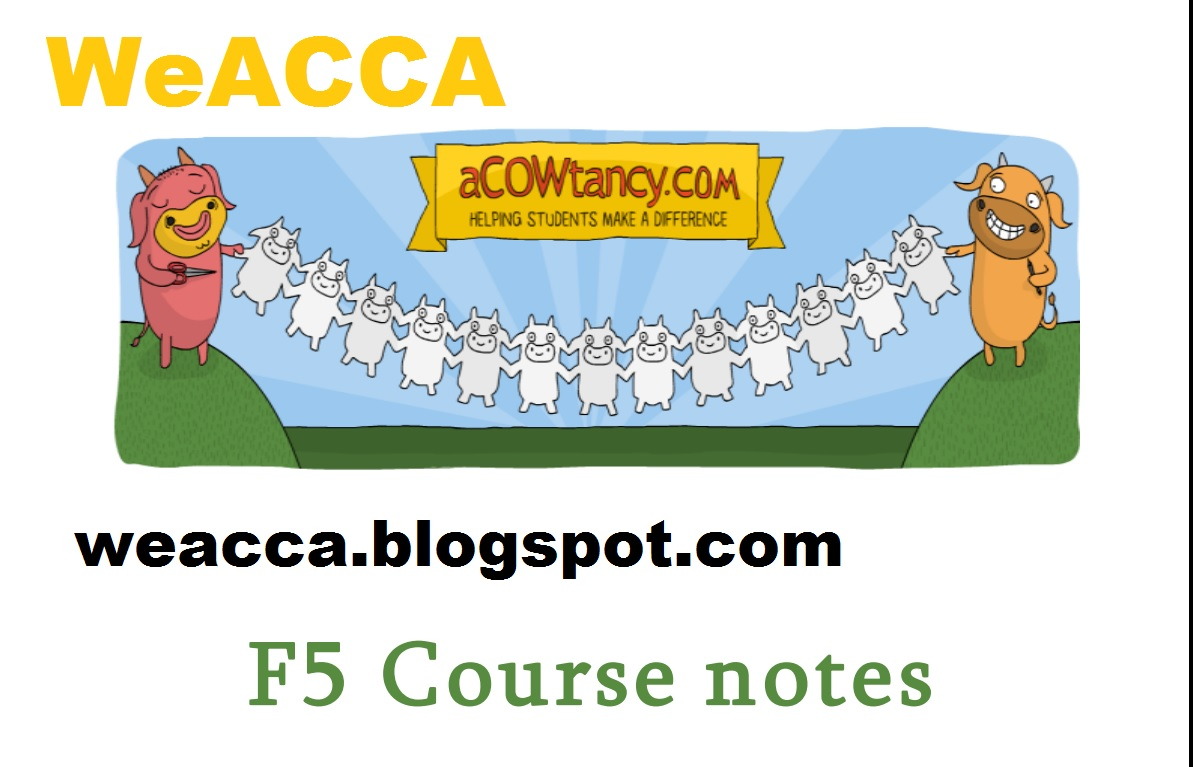 WeACCA free acca study material - Free Accounting Study ...
