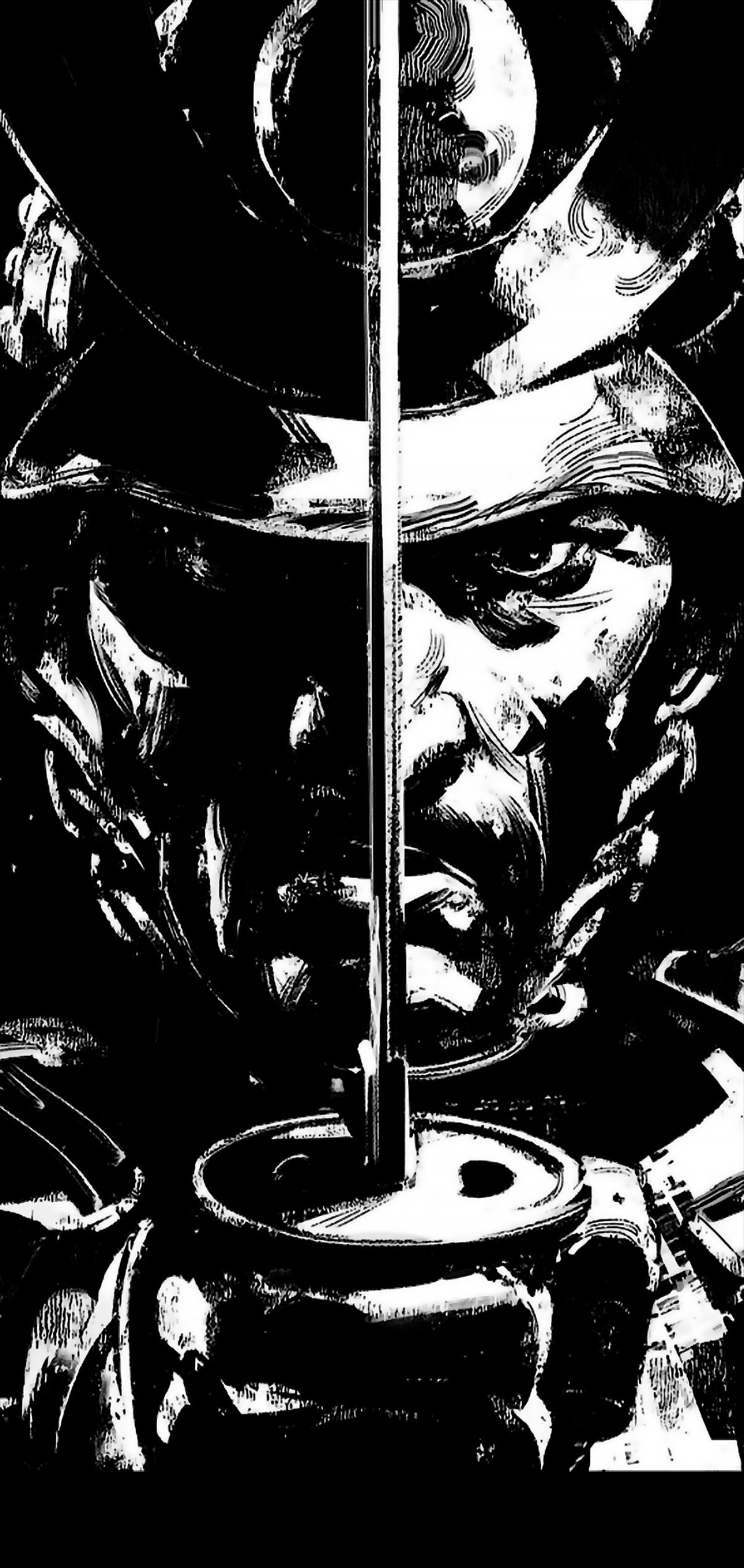 BLACK AMOLED WALLPAPER - GHOST OF TSUSHIMA