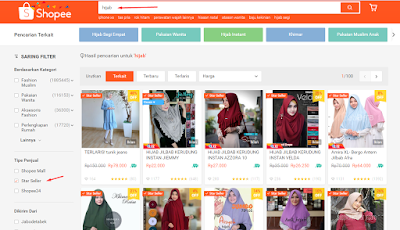 hijab start seller shopee