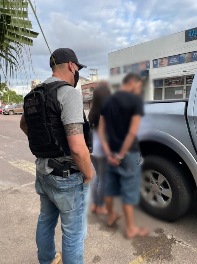 Polícia Civil (GDE) da 2ª SDP prende casal de traficantes de Laranjeiras do Sul em São José dos Pinhais