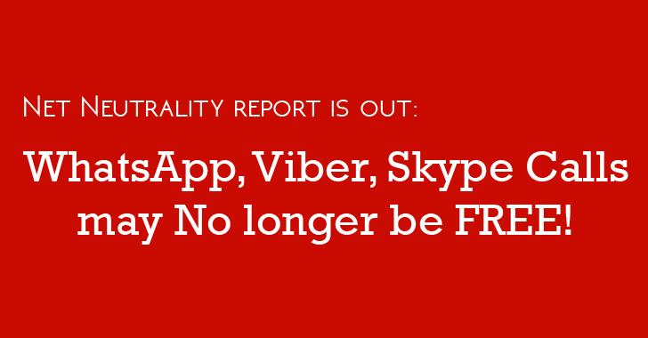 WhatsApp, Viber and Skype Internet Calls may No Longer be FREE in India