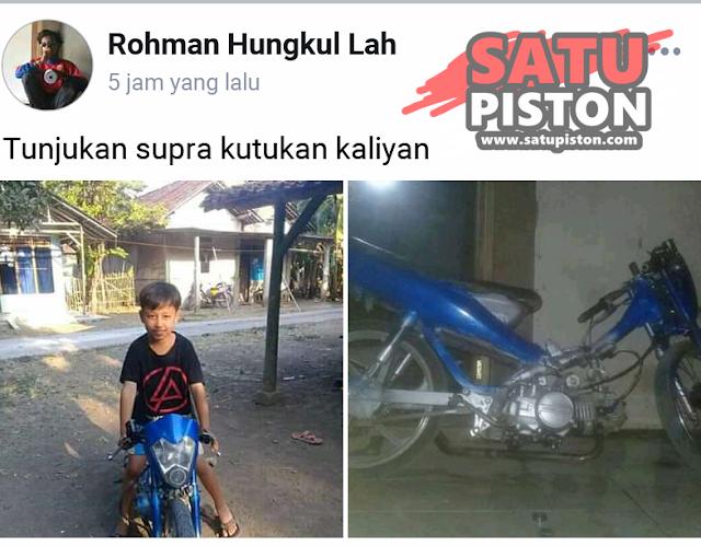 Modif Honda Supra Fit Ala Ayam Jago