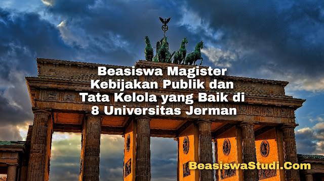Beasiswa Magister Kebijakan Publik & Tata Kelola di 8 Universitas Jerman