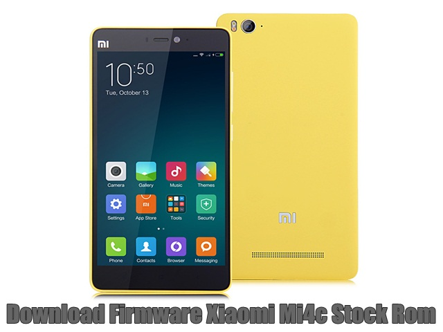 Download Firmware Xiaomi Mi4c Stock Rom