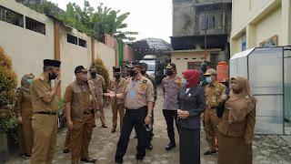 Walikota Jambi Syarif Fasha Pantau Pembelajaran Oflline di SMP N 5 dengan Protokol Kesehatan