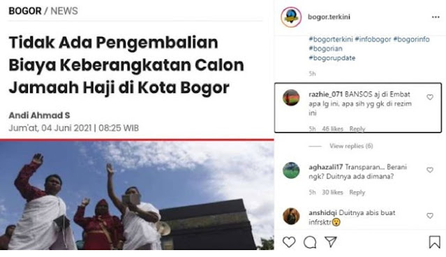 Tak Ada Pengembalian Biaya Calon Jamaah Haji Bogor, Netizen: Duitnya Ada Dimana