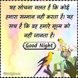 Hindi good night quote