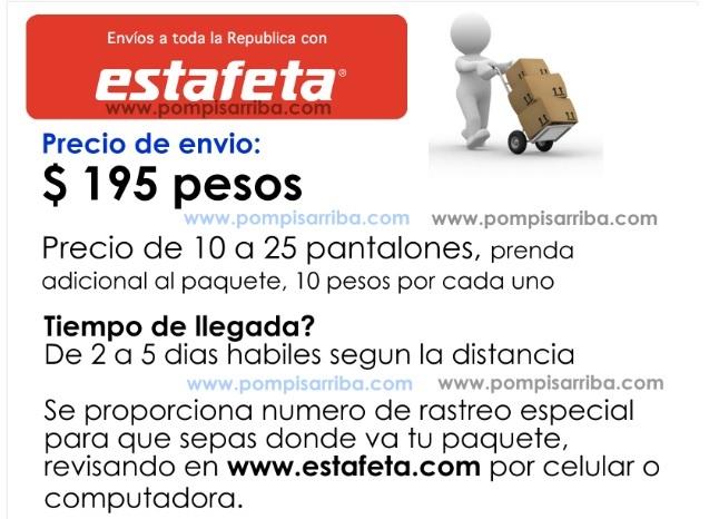Envios por Estafeta a todo Mexico rapido