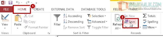 Cara Bekerja dengan Tabel di Microsoft Access (Memodifikasi tampilan tabel)