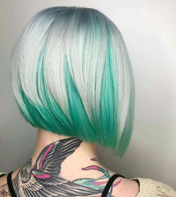 Green shad Bob hairstyle