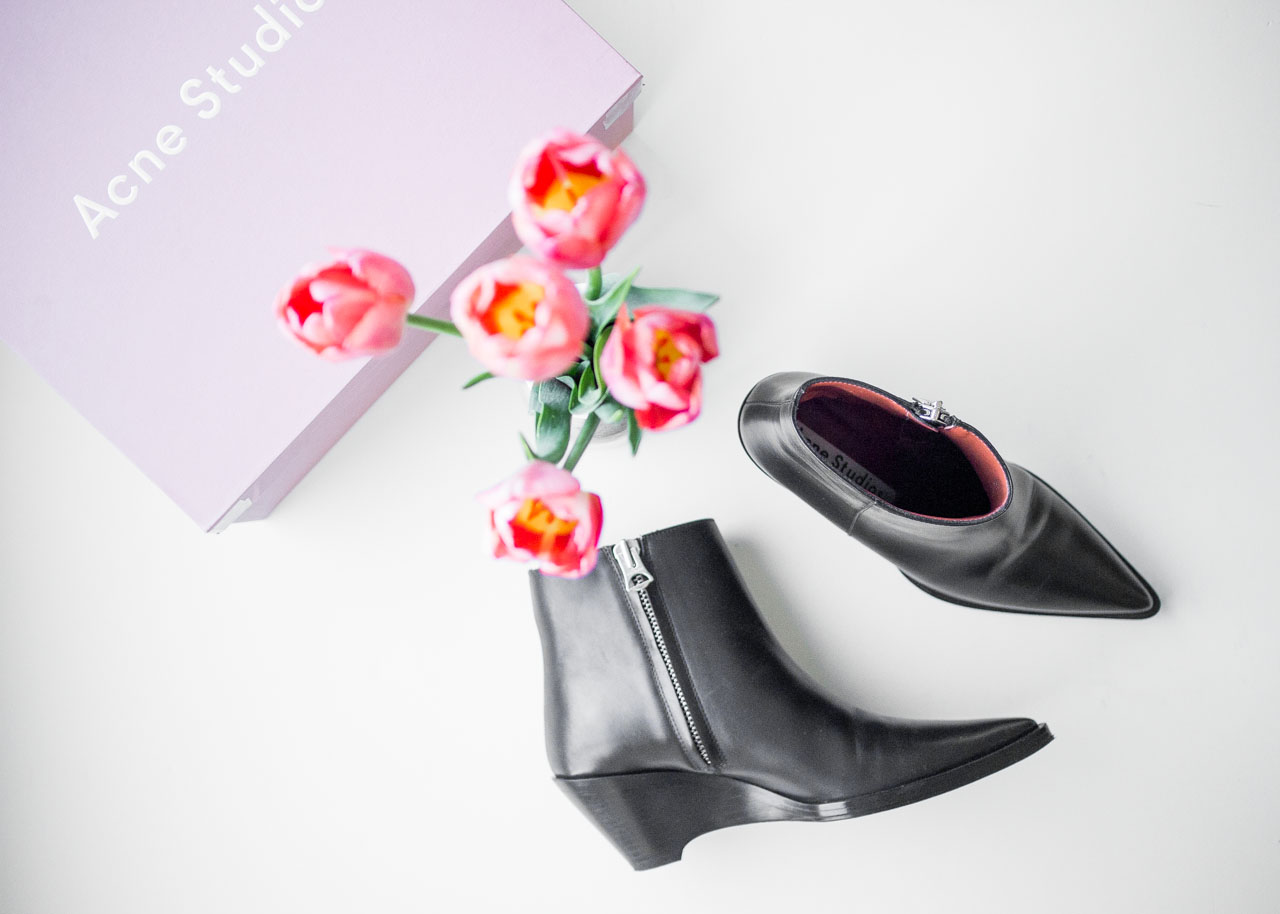 Acne Studios cony boots - new in designer wardrobe - Canadian Fashion Blogger