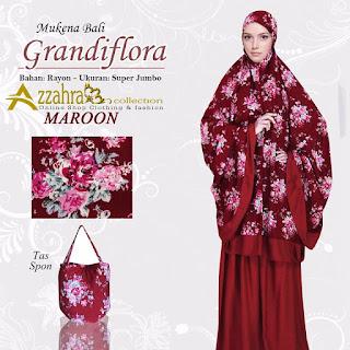 Gambar Mukena Bali Super Jumbo Grandiflora warna  Maroon