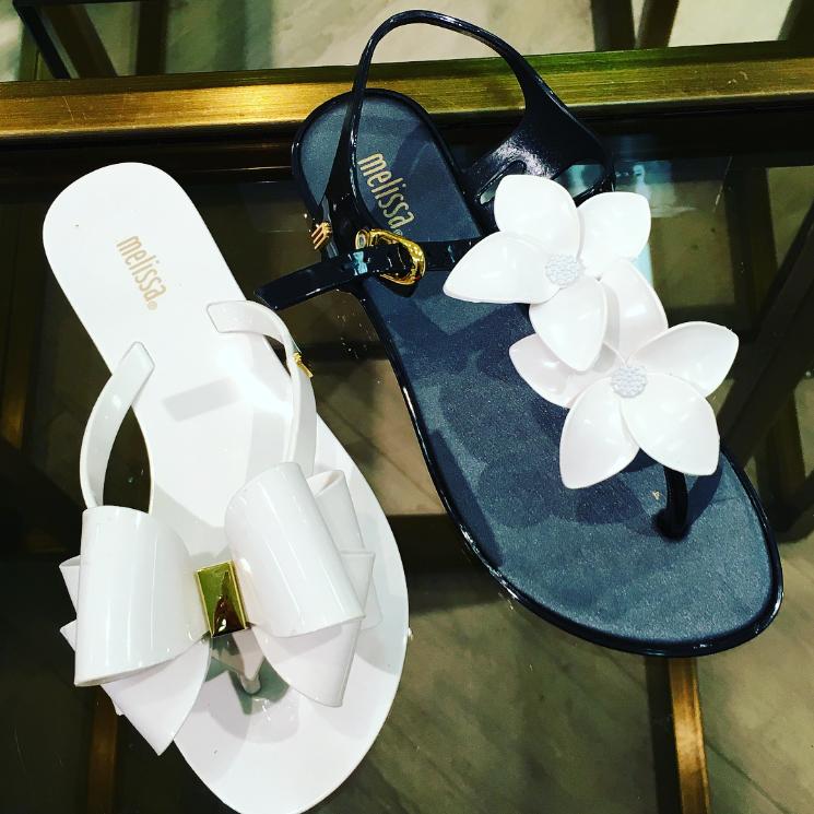 Melissa Harmonicix White Thong Sandals