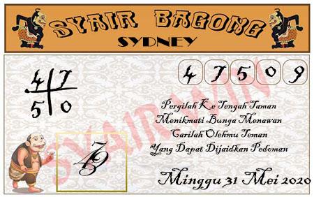 Syair Sidney Minggu 31 Mei 2020 - Bagong
