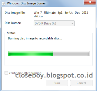 windows disc image burner progress