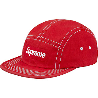 9d8736be5a1 Supreme Contrast Stitch Camp Cap