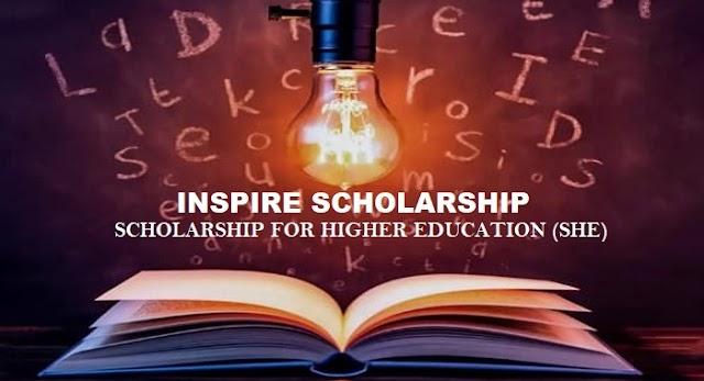 Inspire Scholarship ന് അപേക്ഷ ക്ഷണിച്ചു.