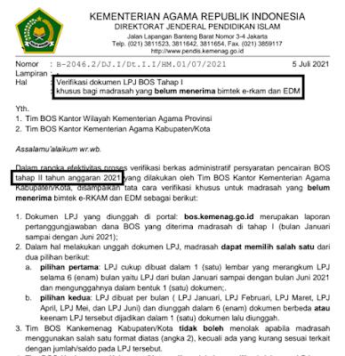 SEGERA Verifikasi! Syarat Pencairan Dana BOS Tahap II Madrasah