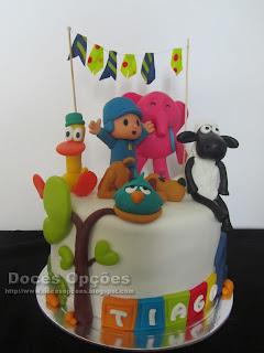 pocoyo party birthday cake