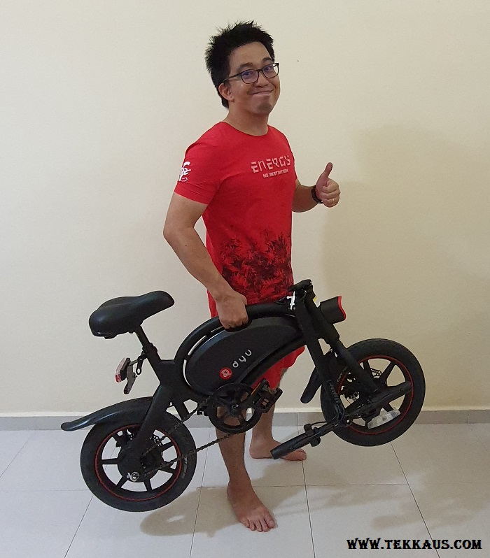 What is DYU D3+ Electric Bike Weight 18KG only