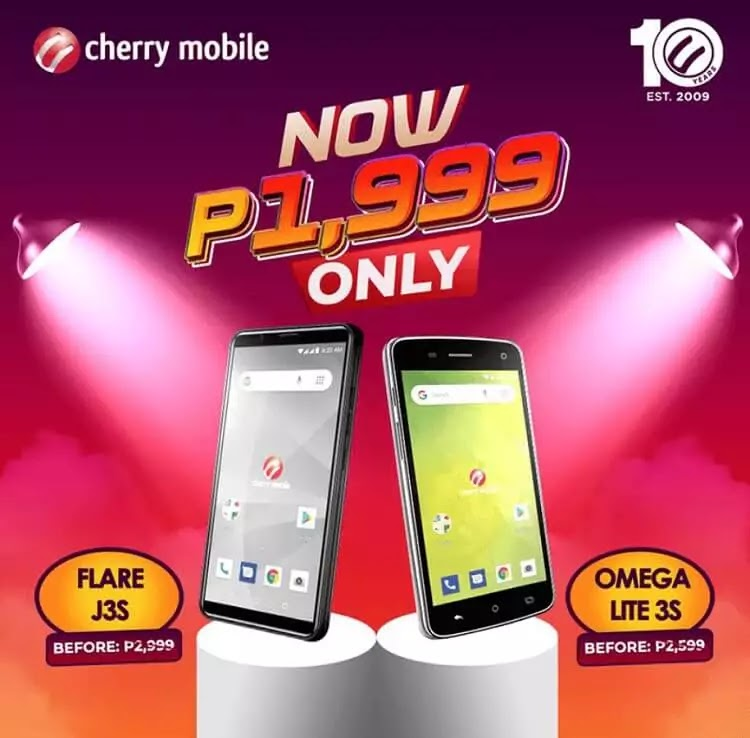 Cherry Mobile Flare J3s, Omega Lite 3s Now Priced at only Php1,999!