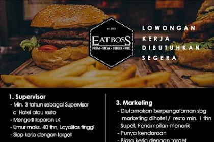 Info Lowongan Kerja Supervisor Waitress Marketing Eat Boss Medan