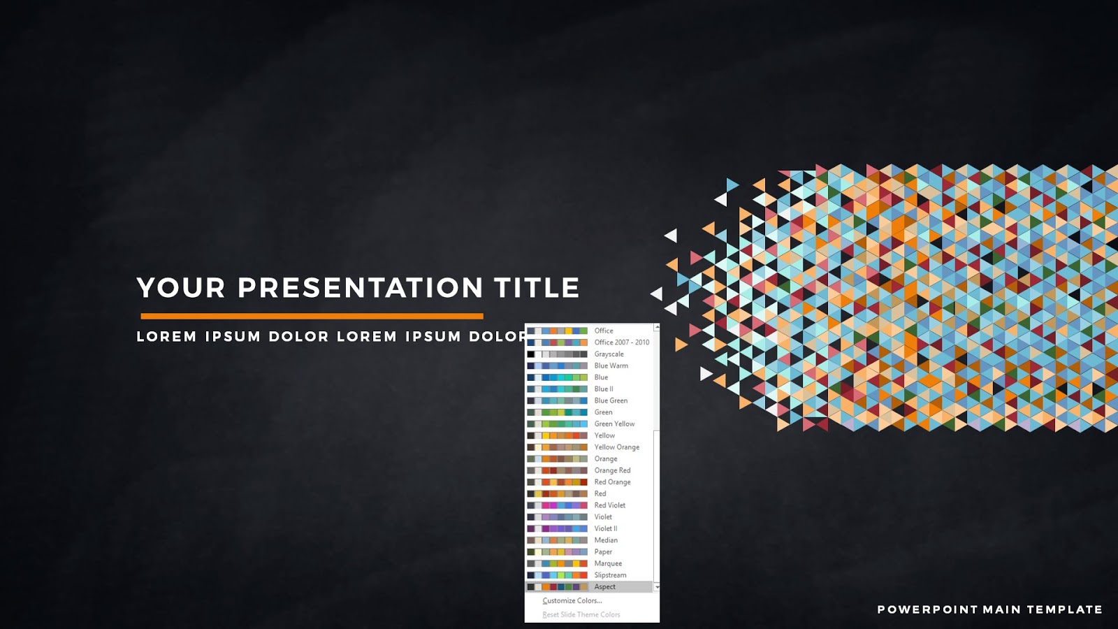 free powerpoint template with polygonal presentation title, Modern powerpoint