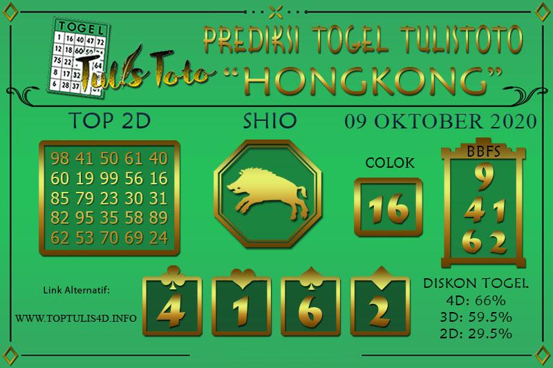 Prediksi Togel HONGKONG TULISTOTO 09 OKTOBER 2020